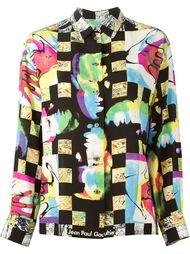 рубашка в принт  Jean Paul Gaultier Vintage