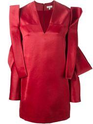 платье с асимметричной аппликацией Delpozo