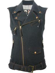 трикотажный жилет с джинсовым эффектом Jean Paul Gaultier Vintage