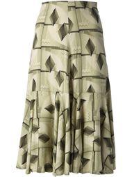 юбка с геометрическим рисунком Biba Vintage