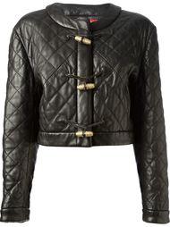 стёганая куртка на трёх пуговицах Moschino Vintage