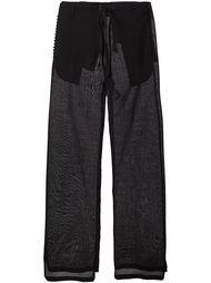 широкие брюки  Ann Demeulemeester Blanche