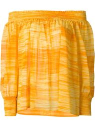 блузка со открытыми плечами Yves Saint Laurent Vintage