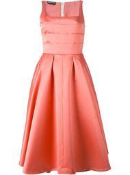расклешенное платье с плиссированным топом Rochas