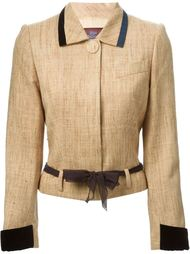 куртка с поясом на талии John Galliano Vintage