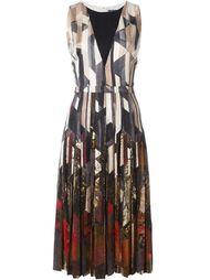 платье А-образного силуэта с геометрическим принтом Salvatore Ferragamo