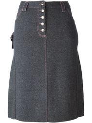 трикотажная юбка-карандаш с джинсовым эффектом  Christian Dior Vintage