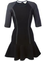 расклешенное платье с контрастными панелями Fendi