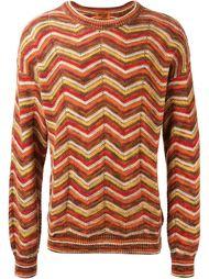 свитер с зигзагообразным узором Missoni Vintage