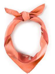 шарф в принт с птицами  Hermès Vintage