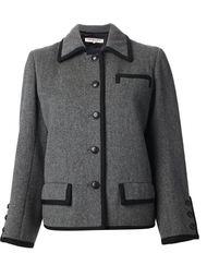 куртка с контрастной окантовкой  Yves Saint Laurent Vintage
