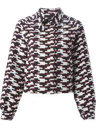 куртка с геометрическим узором  Jil Sander Navy
