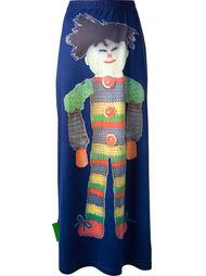 юбка с изображением тряпичной куклы Walter Van Beirendonck Vintage