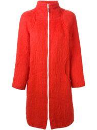 пальто с контрастной застежкой-молнией Courrèges Vintage