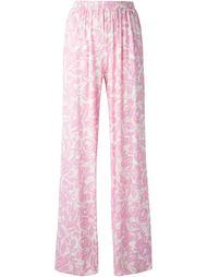 брюки с цветочным принтом Blumarine