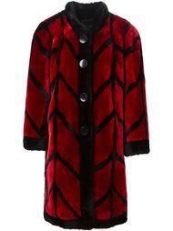 пальто 'Patterned' из овчины Christian Dior Vintage
