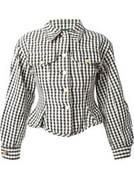 приталенный пиджак в клетку  Jean Paul Gaultier Vintage