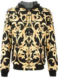 толстовка на молнии с капюшоном и принтом барокко Versace