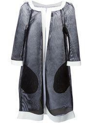 сетчатое пальто с контрастной окантовкой Gianluca Capannolo