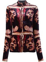 бархатная рубашка с принтом Jean Paul Gaultier Vintage