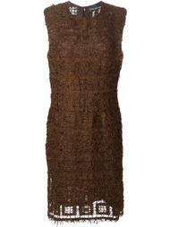 трикотажное платье с перьевой отделкой Jean Louis Scherrer Vintage