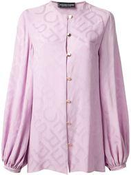 блузка с тиснением из монограмм Jean Louis Scherrer Vintage