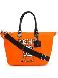 сумка-тоут с логотипом  Moschino