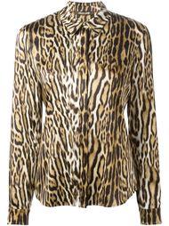 рубашка с леопардовым принтом Roberto Cavalli
