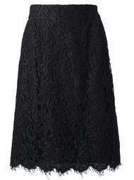 юбка из кружева с цветочным мотивом Christian Lacroix Vintage