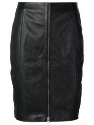 короткая юбка-карандаш Blk Dnm