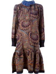 платье с узором пейсли и расклешенным подолом Kenzo Vintage