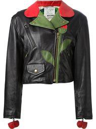 байкерская куртка 'Flower' Moschino Vintage