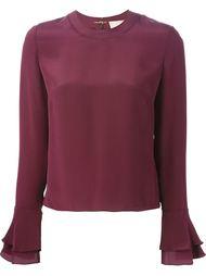 блузка с оборками на рукавах Roksanda