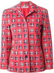 жаккардовый пиджак с узором  Lanvin Vintage