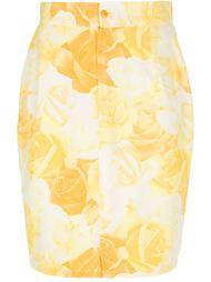 юбка-карандаш с розами Versace Vintage