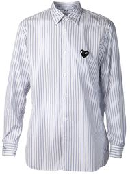хлопковая рубашка в синюю полоску Comme Des Garçons Play