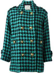 пальто в ломаную клетку Moschino Vintage