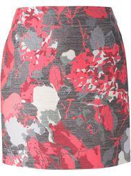 жаккардовая юбка мини с цветочным узором  Antonio Berardi