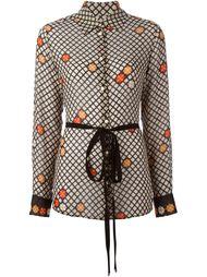 прозрачная блузка с поясом Maison Margiela