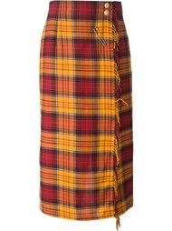 юбка-брюки в клетку Louis Feraud Vintage