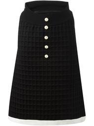 юбка из неопрена А-образного силуэта Chanel Vintage