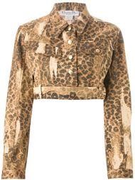 укороченная куртка в леопардовый принт  Christian Dior Vintage