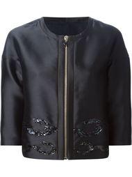 пиджак свободного кроя с пайетками Moncler Gamme Rouge