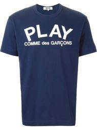 """футболка с принтом """"play"""" Comme Des Garçons Play"""