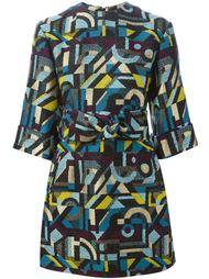 платье мини с абстрактным узором Olympia Le-Tan