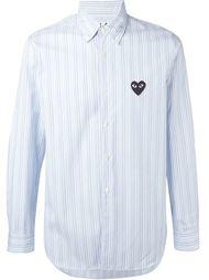 полосатая рубашка с вышитым сердцем Comme Des Garçons Play