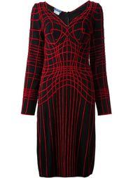платье с сеткой красного цвета Thierry Mugler Vintage