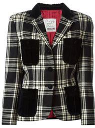 куртка в клетку Moschino Vintage