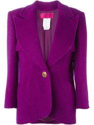 пиджак с застежкой на золотистую пуговицу Christian Lacroix Vintage