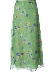 двухслойная прозрачная юбка  Kenzo Vintage